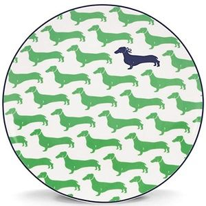 KATE SPADE WICKFORD DACHSHUND GREEN ACCENT LUNCHEO